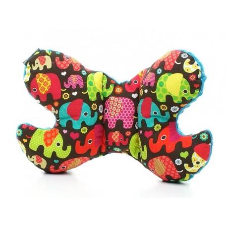 Poduszka motylek - słonie