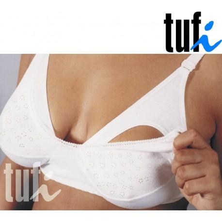 Dwufunkcyjny biustonosz dla kobiet karmiących TUFI biały E i rozmiary 95