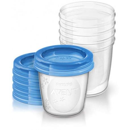 AVENT Philips pojemniki na pokarm 5 szt. 180 ml